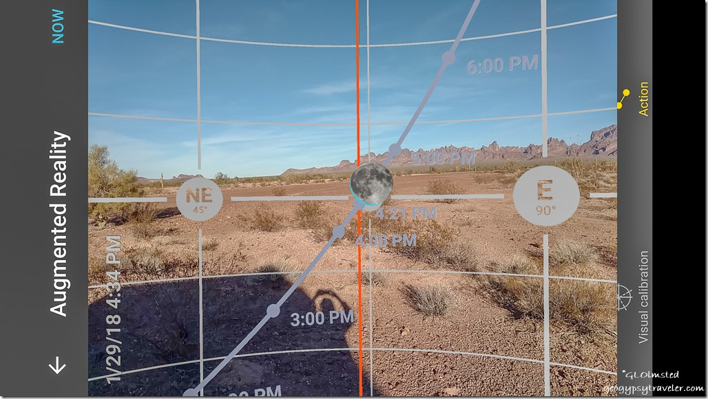 photopills augumented reality moon rise Kofa National Wildlife Refuge Arizona