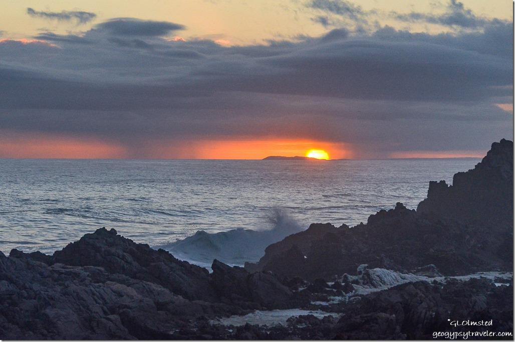 Sunset over Indian Ocean Tsitsikamma National Park South Africa