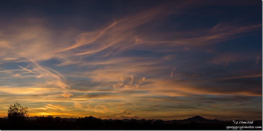 sunset Dome Rock Mountains Kofa NWR Arizona