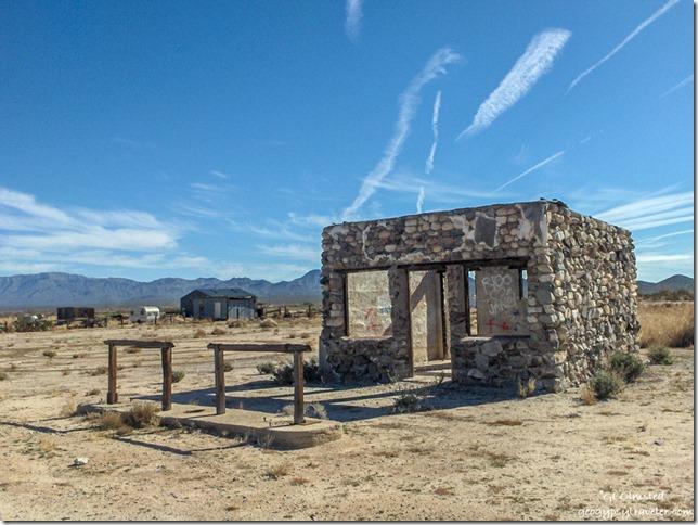 Somebody's dream abandoned stone building Salome Arizona