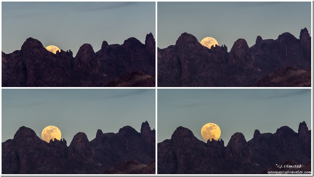 Kofa Mountains moon rise Kofa National Wildlife Refuge Arizona