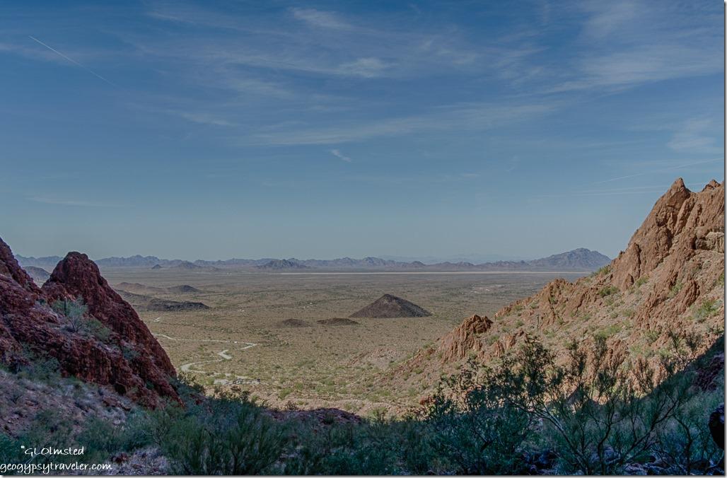 La Posa Plain Dome Rock Mountains from Palm Canyon trail Kofa NWR Arizona