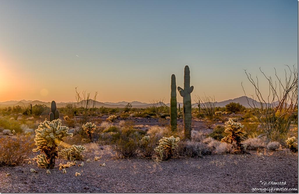 sunset desert Dome Rock Mountains Kofa NWR Arizona