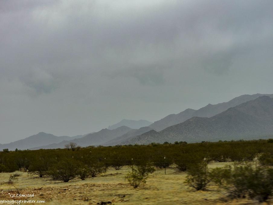 mountains approaching Agila Arizona