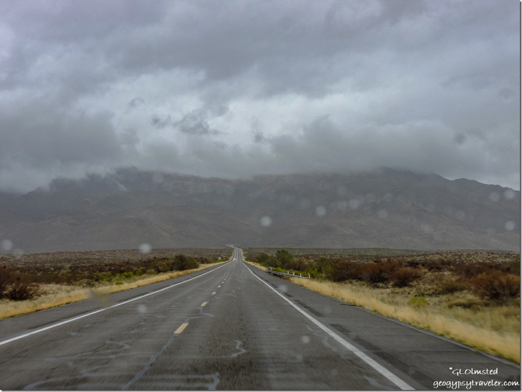 rain low clouds Weaver Mountains SR89 North to Yarnell Arizona